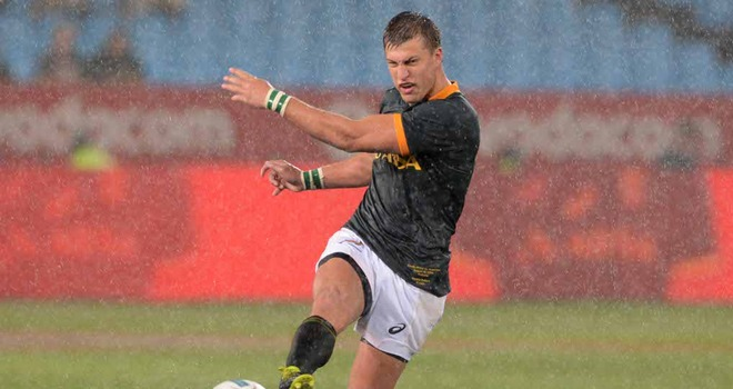 Handre Pollard: Recalled at fly-half for South Africa