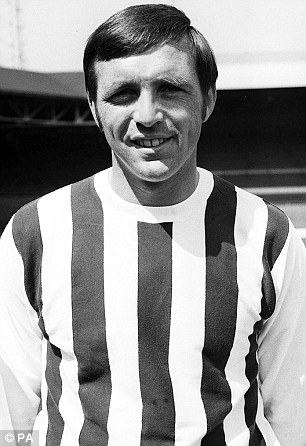 Striker Jeff Astle died aged 59 with severe brain damage