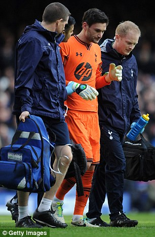 Determined: Lloris and his then manager Andrew Villas-Boas decided he was fit to continue playing - despite the advice of the team¿s medical staff.