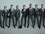 Dressed to impress: England players including captain Steven Gerrard (fifth from left) and Chelsea