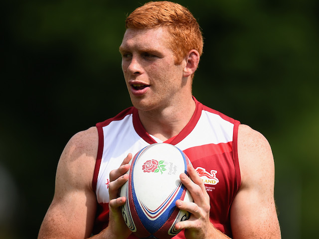 James Rodwell in action during the England Sevens Squad Announcement for the Commonwealth Games on July 9, 2014 in London, England