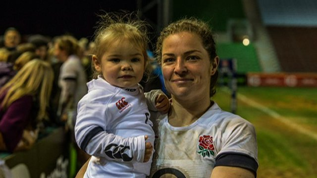 England silent Emma Croker says her daughter Lucy will be there to support her during each diversion as she aims for World Cup excellence in France this summer