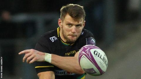 Dan Biggar in action for Northampton