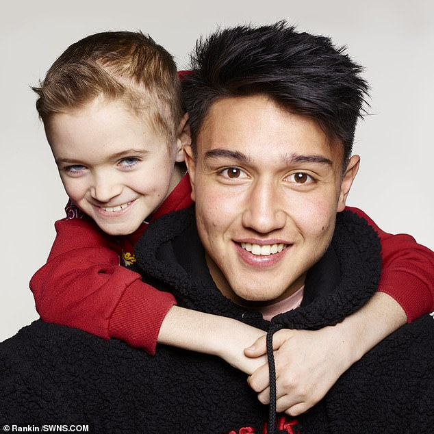 Marcus Smith, a 19-year-old fly-half for Harlequins (pictured with Harry) pledged to help with the campaign after seeing Harry's story on Instagram. He said: 'I look at Harry and I realise I have nothing to complain about'