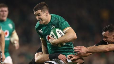 Sexton was part of the Ireland side which secured a historic first win over New Zealand on Irish soil in November