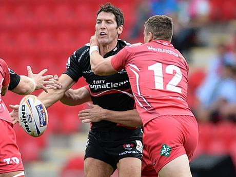 James Hook, of Gloucester, in action during pre-season