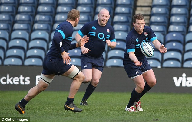 Memories: England's Dylan Hartley, distant right, remembers when a group train was behind nearing to Murrayfield dual years ago