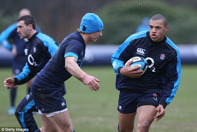 Promising early signs: Luther Burrell has shown glimpses of his intensity in midfield for England