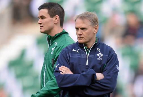 Out-half Johnny Sexton stays a pivotal actor in Joe Schmidt's skeleton for Ireland. Photo: Stephen McCarthy / SPORTSFILE
