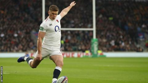 Owen Farrell in action for England